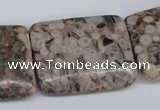 CMB29 15.5 inches 30*40mm rectangle natural medical stone beads
