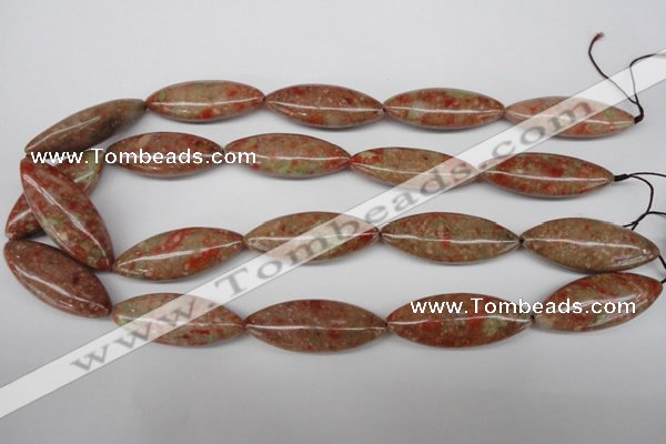 CME04 15.5 inches 15*40mm marquise New unakite gemstone beads