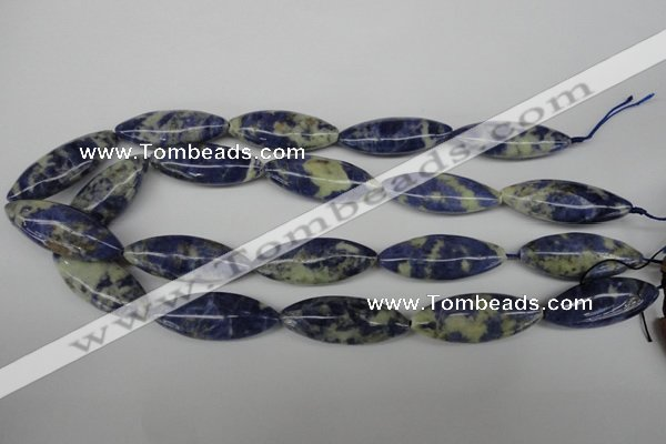 CME07 15.5 inches 15*40mm marquise sodalite gemstone beads