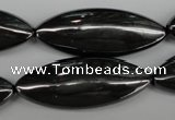 CME09 15.5 inches 15*40mm marquise hematite gemstone beads
