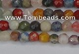 CME100 15.5 inches 4mm faceted round mixed gemstone beads