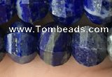 CME215 15.5 inches 7*9mm - 8*10mm pumpkin lapis lazuli beads