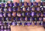 CME307 15.5 inches 8*11mm - 9*12mm pumpkin tiger eye beads
