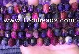 CME328 15.5 inches 9*11mm - 10*12mm pumpkin colorful tiger eye beads