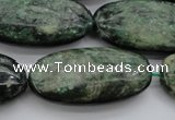 CME38 15.5 inches 20*40mm oval emerald gemstone beads