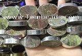 CME503 12 inches 18*28mm - 20*30mm oval bronze green stone beads