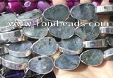 CME509 12 inches 18*28mm - 20*30mm flat teardrop labradorite beads