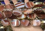CME519 12 inches 18*28mm - 20*30mm oval banded agate beads