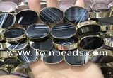 CME520 12 inches 18*28mm - 20*30mm oval banded agate beads
