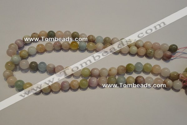 CMG04 15.5 inches 10mm round AB grade natural morganite beads
