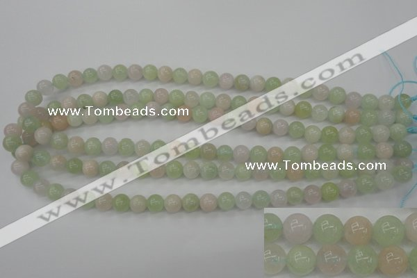 CMG102 15.5 inches 8mm round natural morganite beads wholesale
