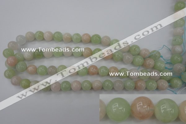 CMG104 15.5 inches 12mm round natural morganite beads wholesale