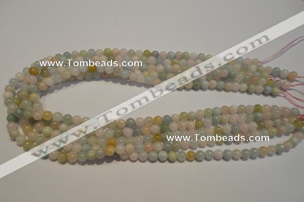 CMG11 15.5 inches 6mm round A grade natural morganite beads