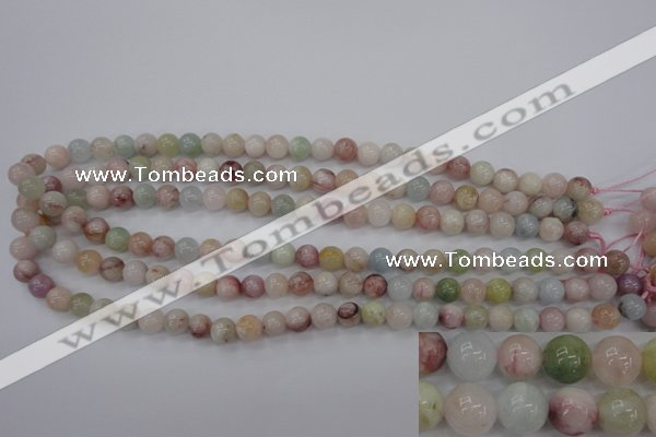 CMG111 15.5 inches 6mm round natural morganite beads wholesale