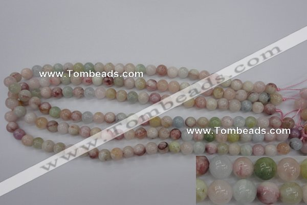 CMG112 15.5 inches 8mm round natural morganite beads wholesale