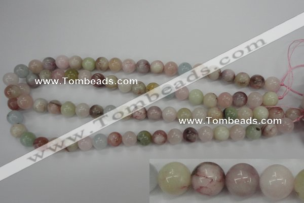 CMG113 15.5 inches 10mm round natural morganite beads wholesale