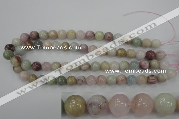 CMG114 15.5 inches 12mm round natural morganite beads wholesale