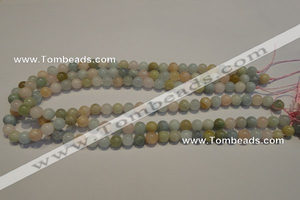 CMG12 15.5 inches 8mm round A grade natural morganite beads