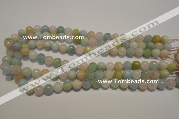 CMG14 15.5 inches 10mm round A grade natural morganite beads