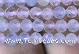 CMG325 15.5 inches 4mm faceted round morganite gemstone beads