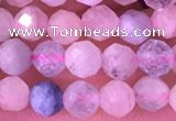 CMG396 15.5 inches 4mm faceted round morganite beads wholesale