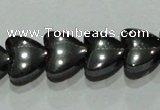CMH172 15.5 inches 8*8mm heart magnetic hematite beads wholesale