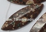 CMI18 Top-drilled 20*60mm marquise mica quartz beads wholesale