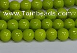 CMJ219 15.5 inches 6mm round Mashan jade beads wholesale