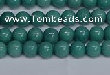 CMJ289 15.5 inches 6mm round Mashan jade beads wholesale