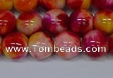 CMJ404 15.5 inches 12mm round rainbow jade beads wholesale