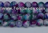 CMJ408 15.5 inches 6mm round rainbow jade beads wholesale