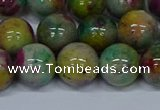 CMJ418 15.5 inches 12mm round rainbow jade beads wholesale