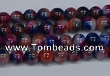 CMJ428 15.5 inches 4mm round rainbow jade beads wholesale