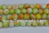 CMJ449 15.5 inches 4mm round rainbow jade beads wholesale