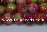 CMJ481 15.5 inches 12mm round rainbow jade beads wholesale
