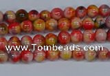 CMJ484 15.5 inches 4mm round rainbow jade beads wholesale