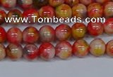CMJ485 15.5 inches 6mm round rainbow jade beads wholesale