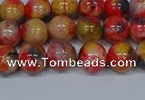 CMJ486 15.5 inches 8mm round rainbow jade beads wholesale