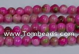 CMJ547 15.5 inches 4mm round rainbow jade beads wholesale