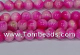 CMJ638 15.5 inches 4mm round rainbow jade beads wholesale