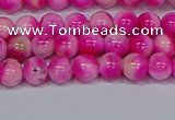 CMJ639 15.5 inches 6mm round rainbow jade beads wholesale