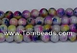 CMJ708 15.5 inches 4mm round rainbow jade beads wholesale