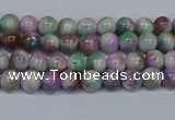 CMJ715 15.5 inches 4mm round rainbow jade beads wholesale