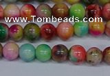 CMJ751 15.5 inches 6mm round rainbow jade beads wholesale