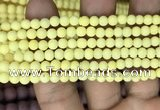CMJ805 15.5 inches 4mm round matte Mashan jade beads wholesale