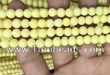 CMJ806 15.5 inches 6mm round matte Mashan jade beads wholesale