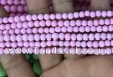 CMJ810 15.5 inches 4mm round matte Mashan jade beads wholesale