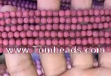 CMJ830 15.5 inches 4mm round matte Mashan jade beads wholesale