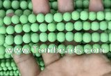 CMJ842 15.5 inches 8mm round matte Mashan jade beads wholesale