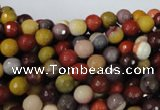 CMK211 15.5 inches 6mm faceted round mookaite gemstone beads